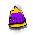 comic book text bubble advertising zap vector image vector image