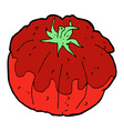 comic cartoon tomato vector image vector image
