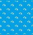 crane pattern seamless blue vector image vector image