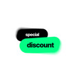 discount banner template with blur effect vector image vector image