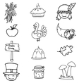 Doodle of thanksgiving with hand draw vector image vector image
