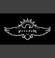 eagle emblem symbol freedom on a dark vector image