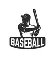 emblem template with baseball player design vector image