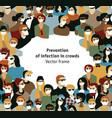 epidemic virus people medical masks prevention vector image
