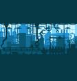 factory plant conveyor line production development vector image vector image