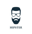 fashion silhouette hipster hipster avatar vector image