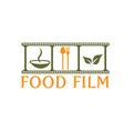 food film concept design template vector image