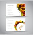 fresh natural fall banners vector image vector image