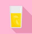 glass of lemonade icon flat style vector image