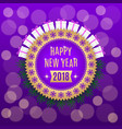 golden new year 2018 vector image