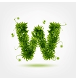 Green eco letter W for your design vector image vector image