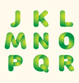 green leaves eco font vector image
