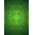 Green satin background with relief pattern vector image vector image