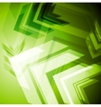 Hi-tech green arrows abstact background vector image vector image