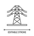 high voltage electric line linear icon vector image vector image