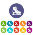 ice skate set icons vector image vector image
