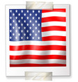 icon design for america flag vector image vector image
