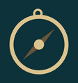 isolated flat compass compass traveler compass vector image