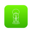 lantern candle icon green vector image vector image