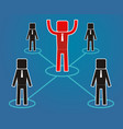 leadership concept - workers are subject leader vector image vector image