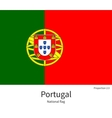 National flag of Portugal with correct proportions vector image vector image