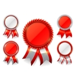 Red Award Medals vector image vector image