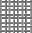 Repeating black and white weave pattern vector image vector image
