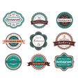 Retro food labels and emblems vector image vector image