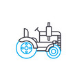 road roller thin line stroke icon road vector image