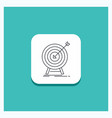 round button for goal hit market success target vector image