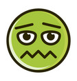 scared funny smiley emoticon face expression line vector image