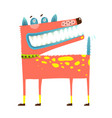 scary funny dog standing smiling smirking vector image vector image