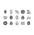 scroll down icons scrolling mouse landing page vector image vector image