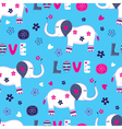 Seamless pattern with cute elephant vector image vector image