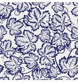 Seamless pattern with sketched grapes leaves vector image vector image