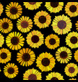 seamless sunflowers background vector image vector image