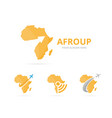 set of africa logo combination safari and growth vector image vector image