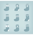 Set of Christmas Stockings vector image vector image