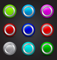 Set of round buttons with glossy effect vector | Price: 1 Credit (USD $1)
