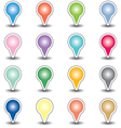 set round map pointers vector image