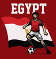 soccer player of egypt vector image vector image