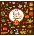 Thanksgiving food doodles vector image vector image