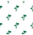 tropical green palm trees seamless pattern vector image