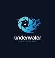 underwater photography logo design symbol icon