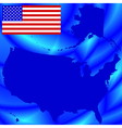 USA map on abstract background vector image vector image