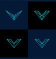 v line logo vector image