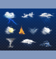 weather forecast 3d realistic icons collection vector image