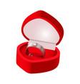 wedding ring box good for wedding card vector image