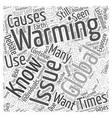 What You Should Know About Global Warming Word vector image vector image