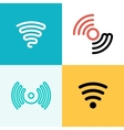 wifi logo set zone vector image vector image
